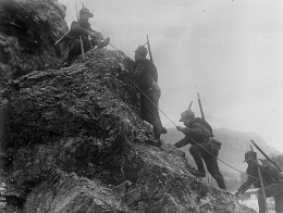 Italian Alpine troops during the First World War